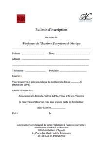 Bulletin Bienfaiteur